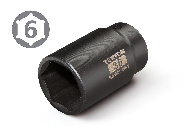 6-Point TEKTON 4936 1//2-Inch Drive by 36 mm Deep Impact Socket