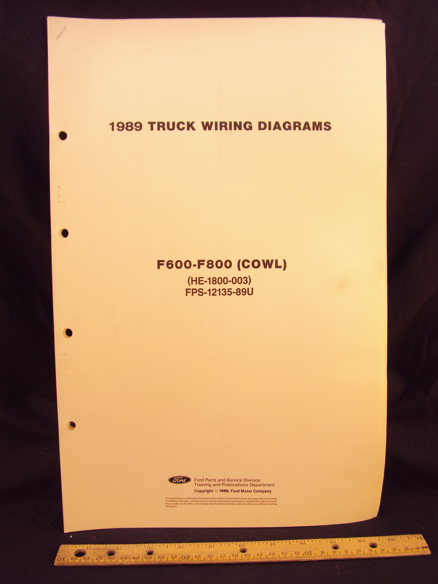 [WLLP_2054]   1989 FORD F600, F700, & F800 Series Cowl Truck Electrical Wiring Diagrams /  Schematics: Ford Motor Company: Amazon.com: Books | 1989 Ford F800 Wiring |  | Amazon.com