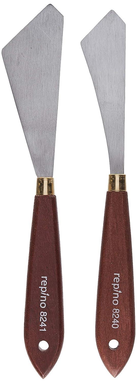 Repino cuchillo del pintor Cuchillo de paleta espátulas. Juego de 2 Artistas Espátula para acrílico y aceite