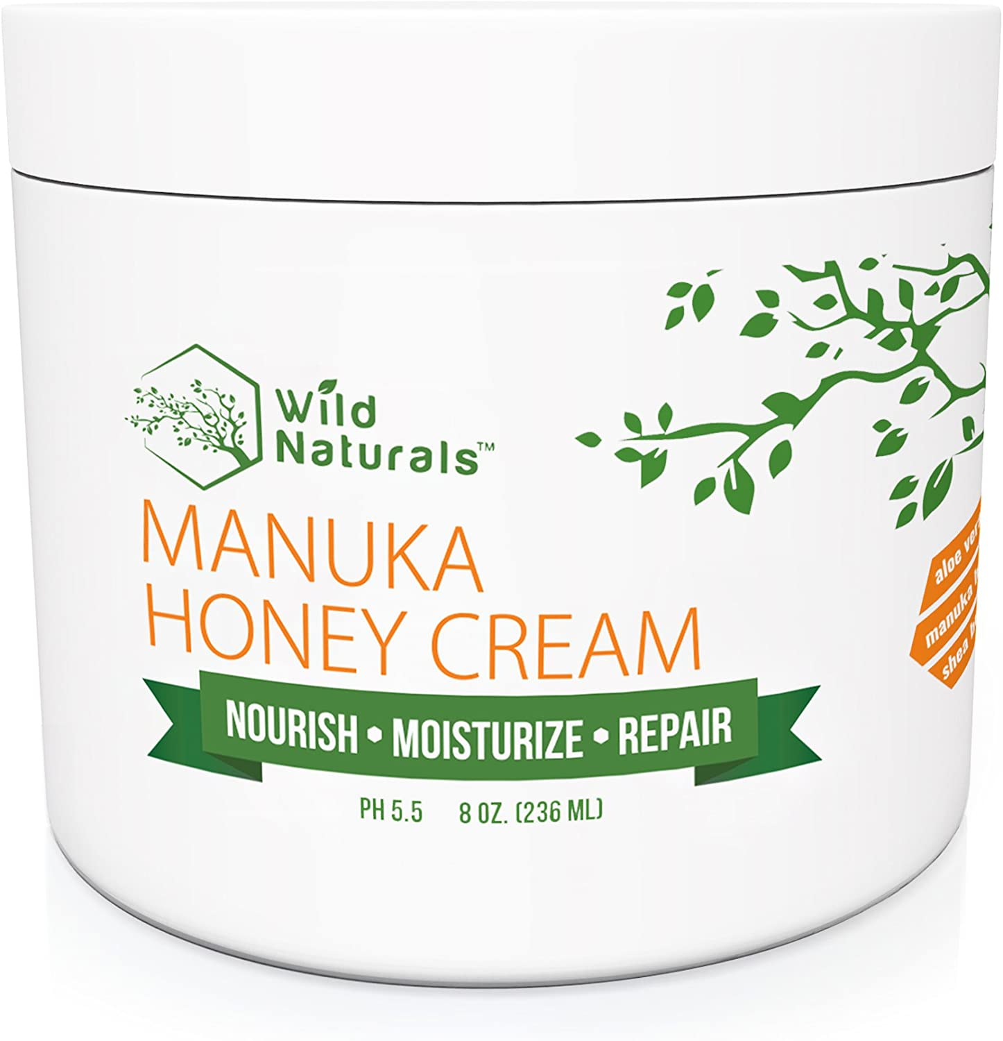 Manuka Honey Healing Eczema Cream : Aloe Vera + Shea Butter + Coconut Oil + Hemp Seed Oil Anti Itch Natural Moisturizer Face and Body Lotion for Dry Skin Dermatitis Psoriasis Rosacea Sunburn Relief