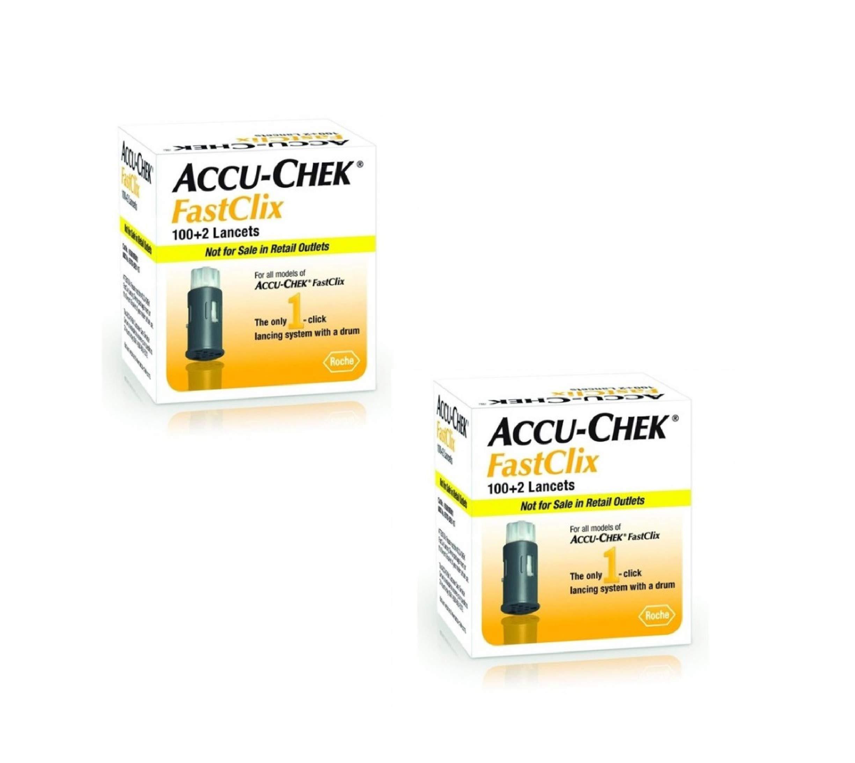 Accu-Chek Fastclix Lancets, 102 Count (2 Pack)