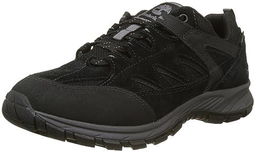 Timberland Saddler Pass Fabric and Leather WP, Zapatos de Cordones Oxford para Hombre, Marrón (Shitake Suede 838), 45.5 EU