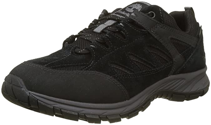 Timberland Saddler Pass Fabric and Leather WP, Richelieus Homme, Noir (Black Suede 001), 46 EU