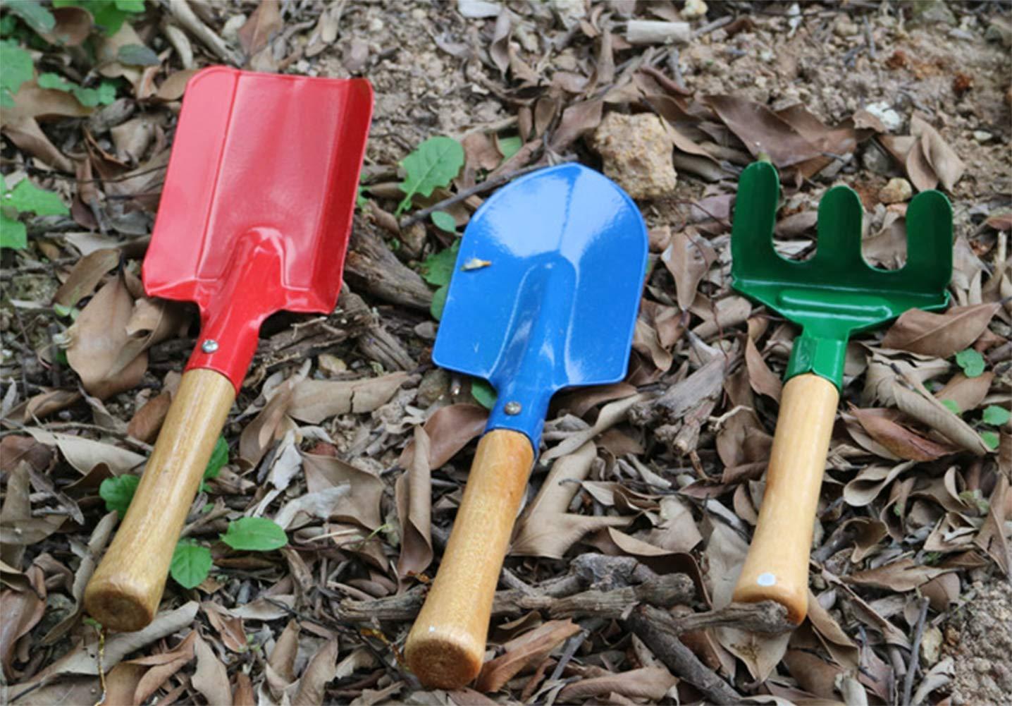 Kentop Jardin Outil Ensemble Pelle R/âteau B/êche Mini Jardin Outils De Jardinage Enfants Jouets Lot de 3