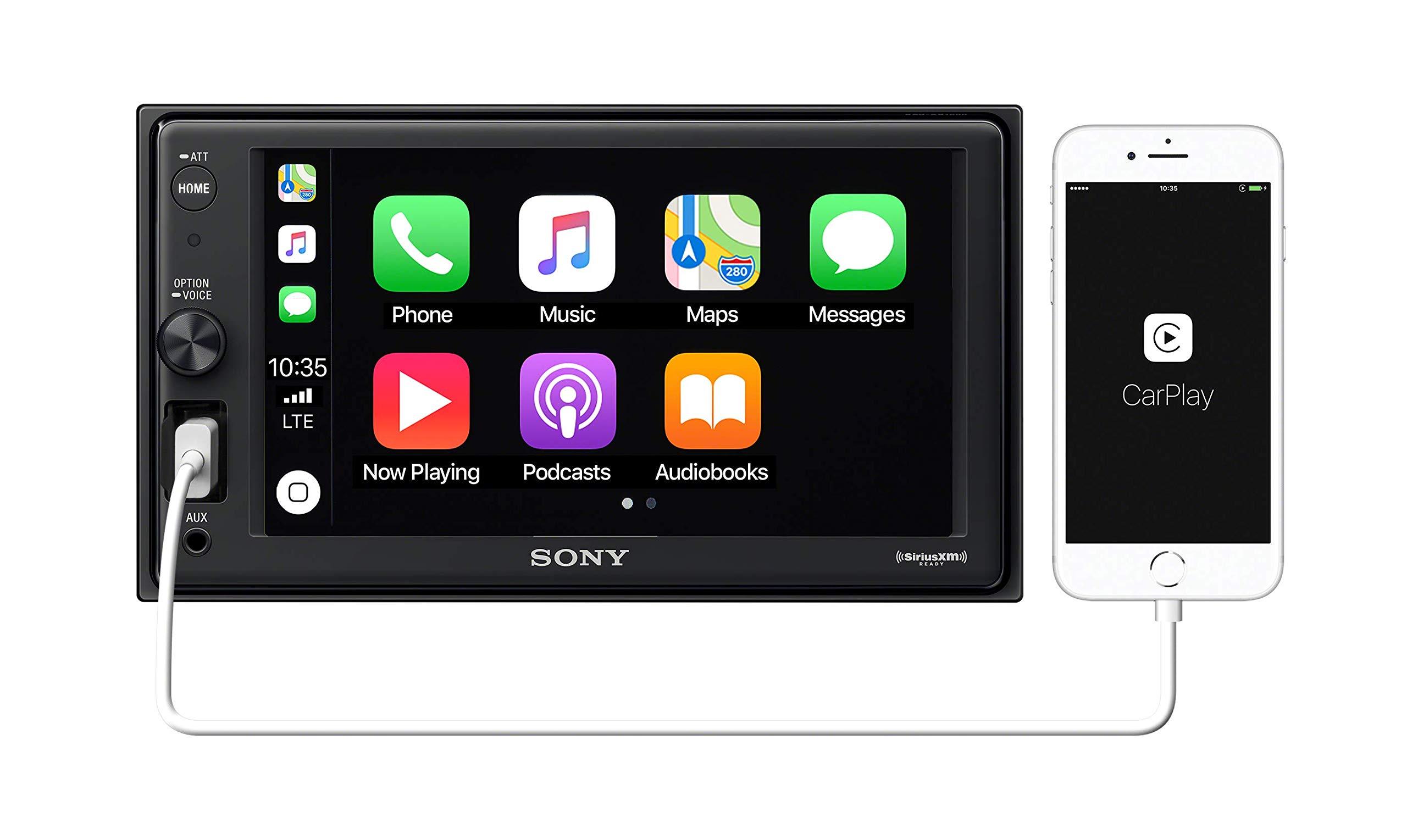 Sony XAVAX1000 6.2'' (15.7 cm) Apple CarPlay Media Receiver with Bluetooth by Sony