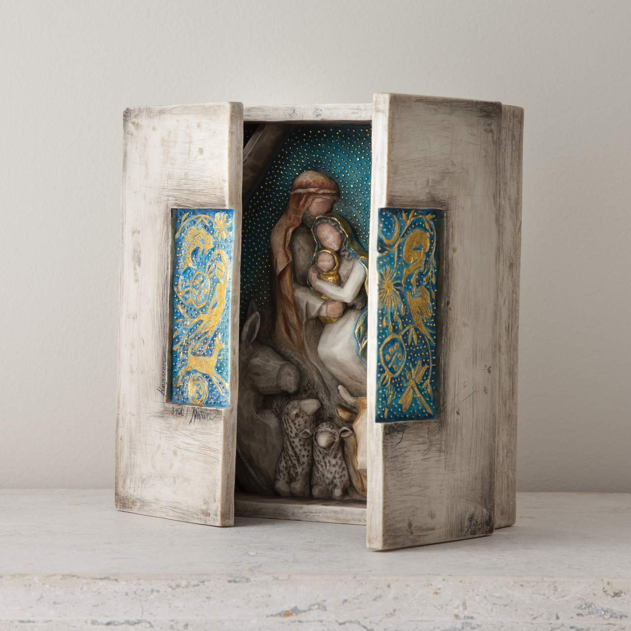 Willow Tree Starry Night Nativity, sculpted hand-painted nativity triptych by Willow Tree (Image #2)