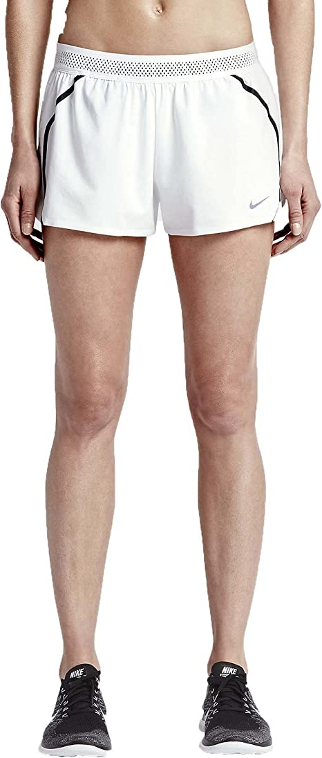 Nike Aeroswift Shorts for Woman, White (WhiteBlack), M