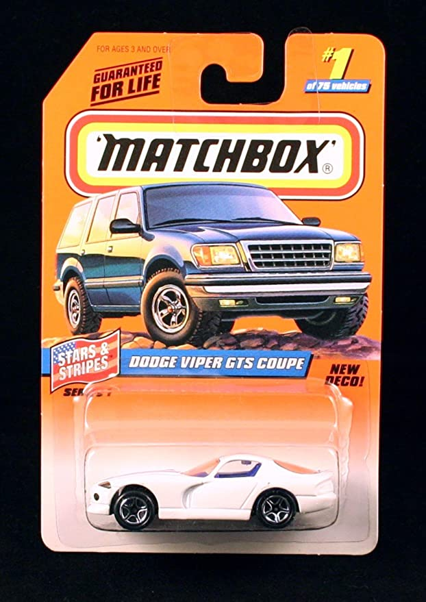 Matchbox Dodge Viper GTS Coupe Blue #1 of 75 in box