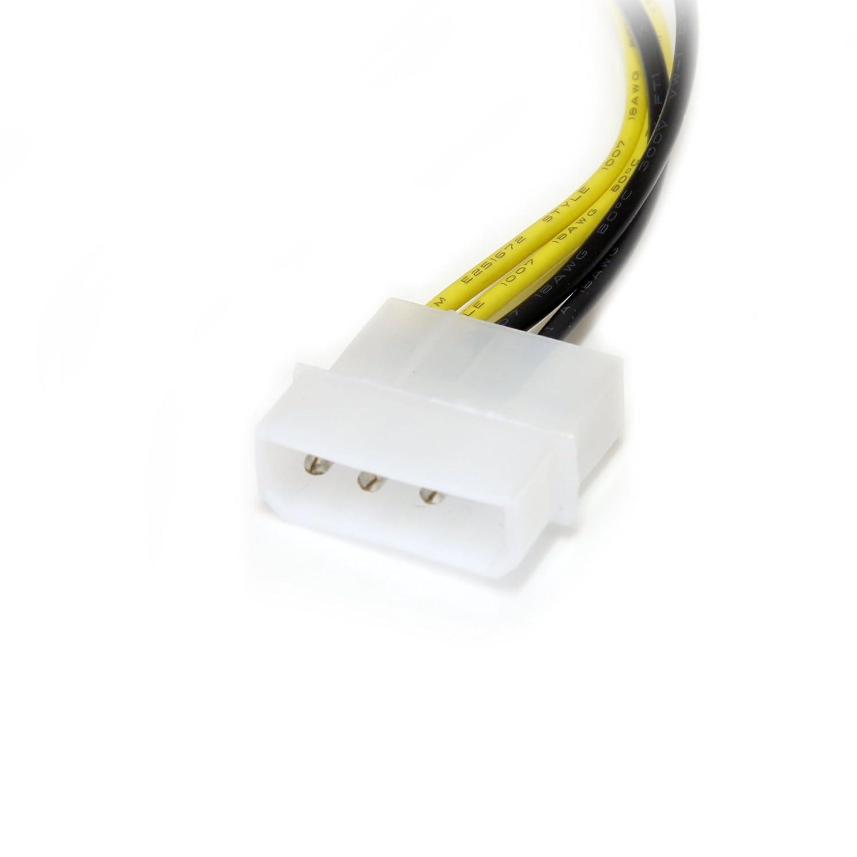 15 cm 8 Pines Cable Adaptador de alimentaci/ón de LP4 a PCIe Startech.com LP4PCIEX8ADP