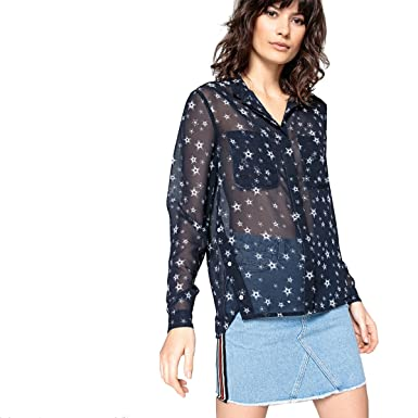 Amazon Com La Redoute Collections Womens Star Print Shirt Pink Size
