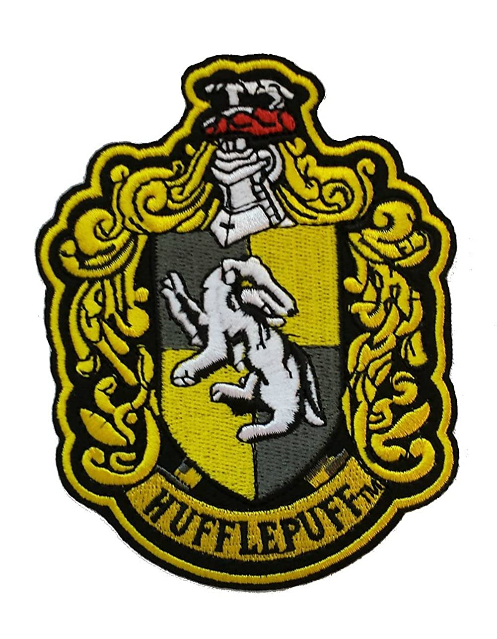 Outlander Gear Harry Potter Hufflepuff House Crest 4.5' Embroidered Iron/Sew-on Patch