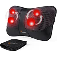 VIKTOR JURGEN Neck Massage Pillow Shiatsu Deep Kneading Shoulder Back and Foot Massager with Heat-Relaxation Gifts for Women/Men/Dad/Father-FDA Approved