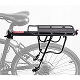 WINNINGO Rear Bike Rack, Capacity Adjustable Alloy Bike Luggage Cargo Rack 115 Lb Capacity Easy