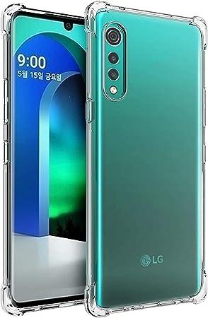 Image ofPkila Fusion Diseñado para LG Velvet Funda Cover, Transparente al Dorso Carcasa Protección Resistente Impactos TPU Funda Case para LG Velvet- Clear