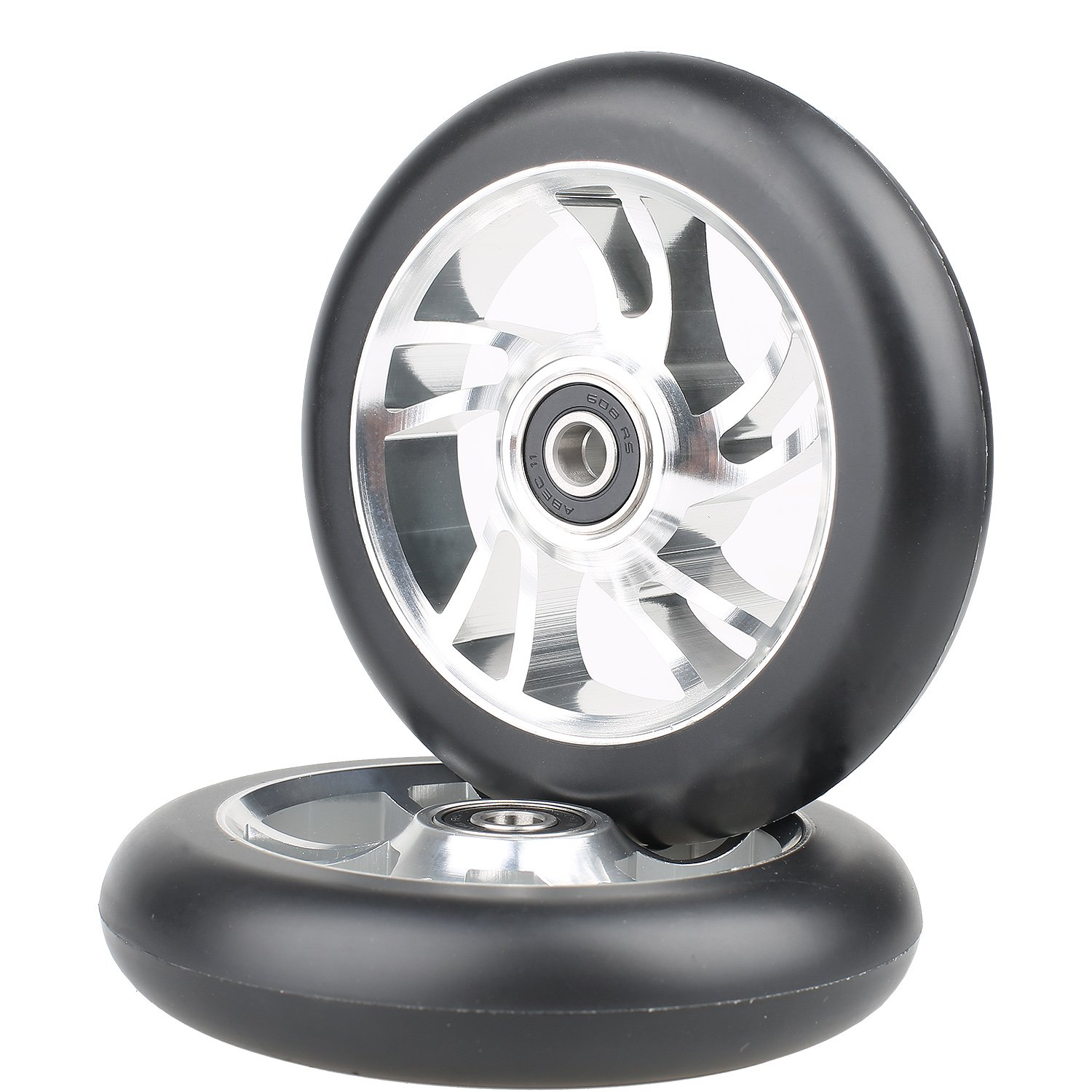 Kutrick 110mm Pro Stunt Scooter Replacement Wheels with ABEC 9 Bearing Complete 2pcs Wheels