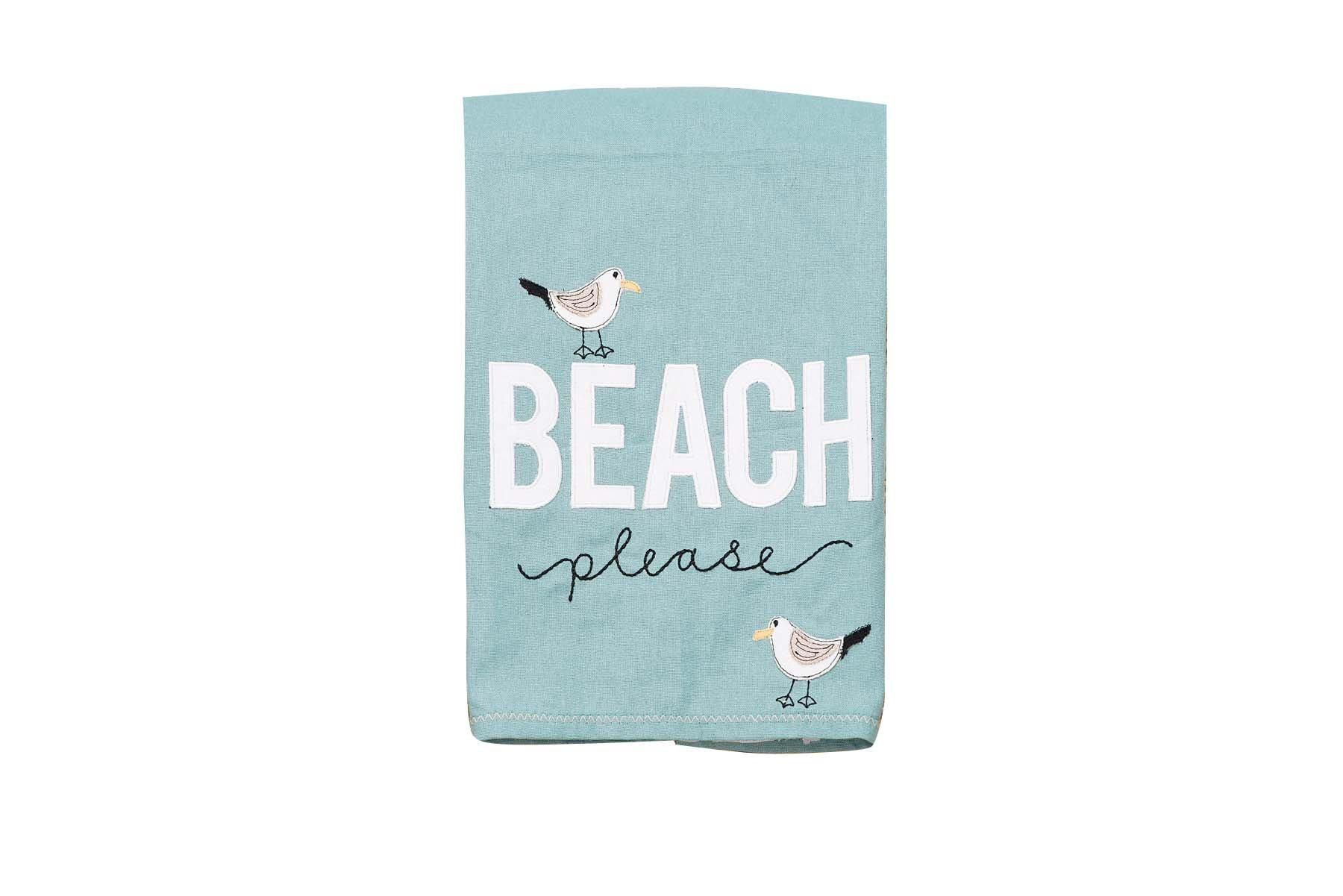 Glory Haus Beach Please Tea Towel, Multicolor