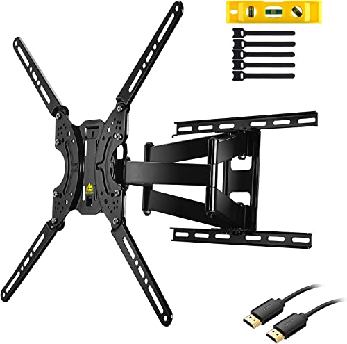 TV Wall Mount TV Bracket,FORGING MOUNT FM9380-B Full Motion Dual Articulating Arms for Most 37-70 inch LED,LCD,OLED,Plasma Screen TVs,up to 132LBS,VESA 600X400mm-16.5 Extension Roating