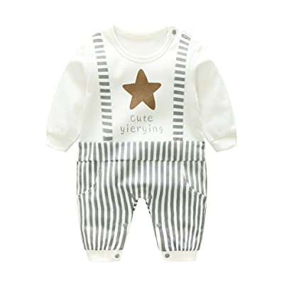 1297ebe00d8 D.B.PRINCE Baby Boy Girl Rompers Long Sleeve Toddler One Piece Jumpsuit  Playsuit Outfits