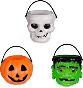 Windy City Novelties Mini Halloween Pumpkin Candy Bowl Holder Decor for Halloween Party (12 Pack)
