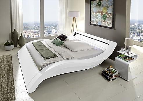 Jugendbett 120x200  SAM® Polsterbett Trend Jugendbett Look LED 120 x 200 cm weiß Bett ...