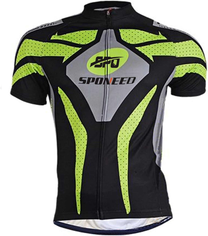 SPONEED Bike Jersey /& Shorts Kits Men MTB Road Cycle Sportswear Wicking Uniforms