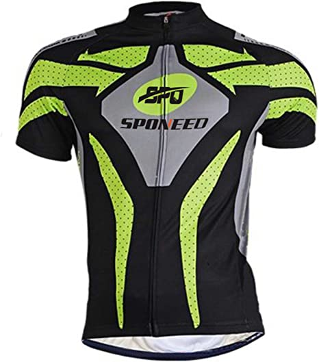 Men Cycling Jersey Bicycle Breathable Top Bike Clothing T shirt Cycle Gear Green