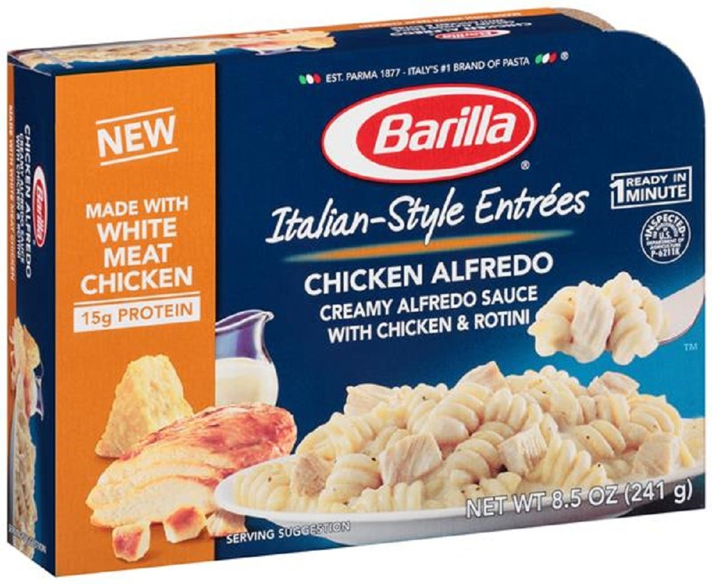 com barilla italian style entree chicken alfredo com barilla italian style entree chicken alfredo microwave dinner 8 5oz tray pack of 4 grocery gourmet food