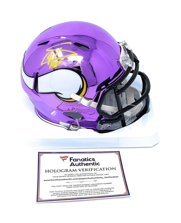 Stefon Diggs Minnesota Vikings Signed Autograph CHROME Speed Mini Helmet Fanatics Authentic Certified