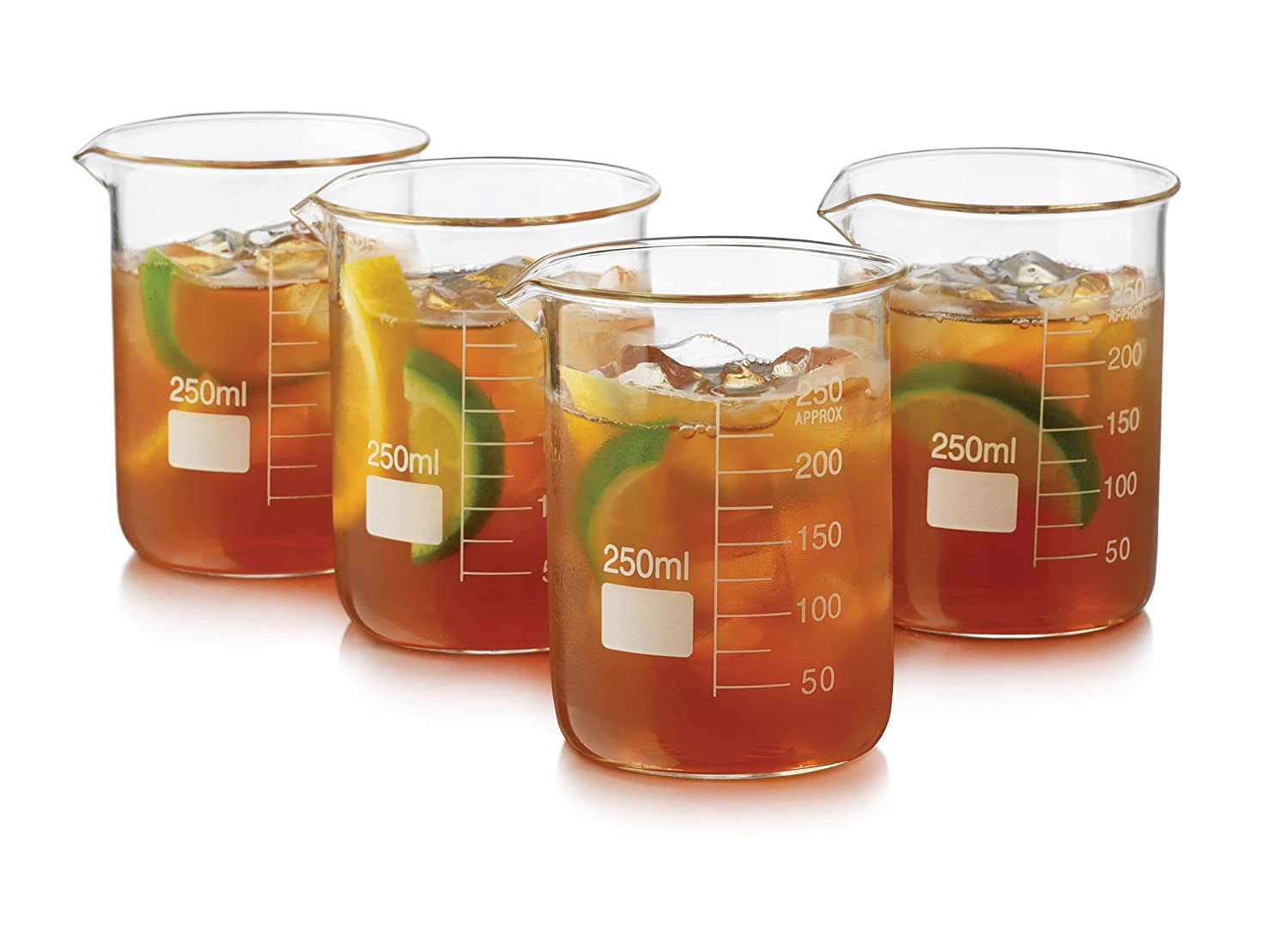 Libbey 4 Piece Beaker Set, Clear