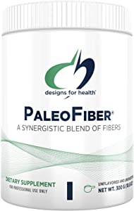 Designs for Health PaleoFiber - 12 Digestive Fiber Blend Powder Supplement with Psyllium Husk, Flax + Apple Pectin - Prebiotic Gut Support, Unflavored + Unsweetened (60 Servings / 300g)