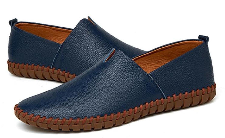 Männer Lässig Erbsen Schuhe Schuhe Atmungsaktiv Koreanisch Faule Schuhe Fahr Schuhe Schuhe Blau1 534ee5