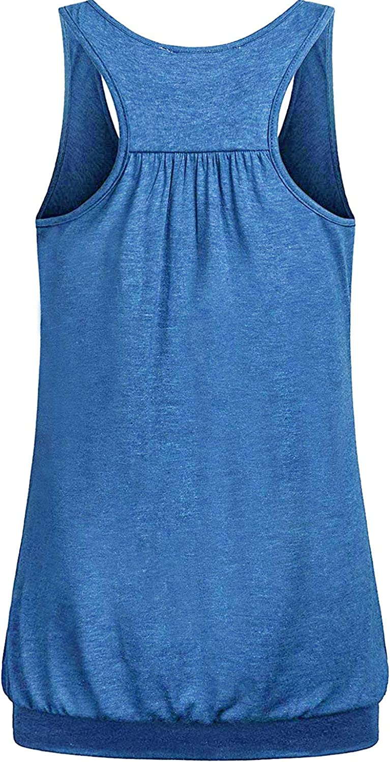 Blue,XX-Large Women Summer Layered Comfy Best Nursing Top Shirt Soft Stretchy Solid Relaxed Fit Round Neck Casual Maternity Nursing Clothing Breastfeeding Plus Size Larenba Cotton Nursing Tank