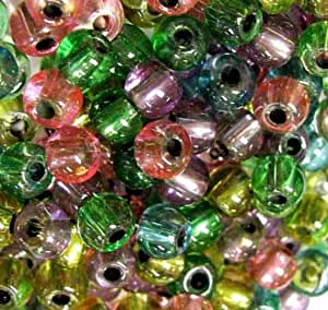 Linpeng 6/0 Seed Beads, 0.5 lb, Multicolor