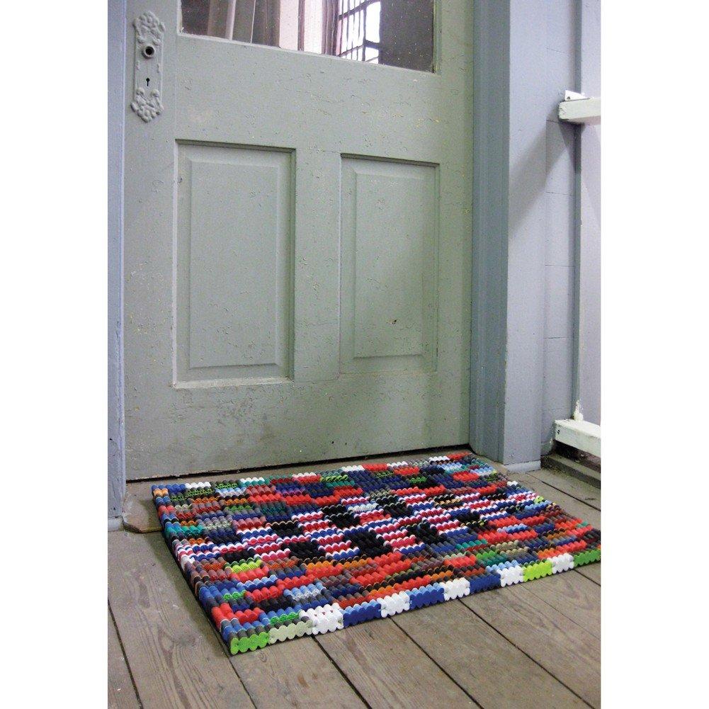 Reclaimed Flip-Flop Door Mat Rectangle Welcome Mat - Easy Clean Durable Sturdy