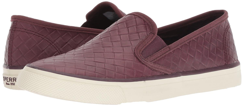 Sperry Top-Sider Women's Seaside Emboss Weave Sneaker B078SHGJX7 5.5 M US|Wine