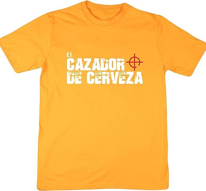 Hippowarehouse El Cazador De Cerveza Camiseta Manga Corta Unisex: Amazon.es: Ropa y accesorios
