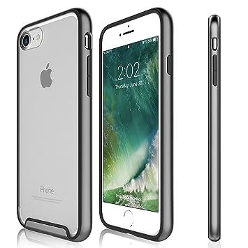 Funda iPhone 8 / iPhone 7 - KHOMO Carcasa Transparente Triple Protección con Borde Bumper Case de Colores Antichoque para el Nuevo Apple iPhone 8 - ...
