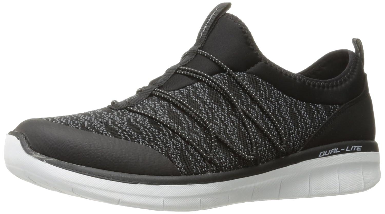 Skechers Synergy 2.0-Simply Chic, Zapatillas sin Cordones para Mujer 36.5 EU Negro (Black/White)