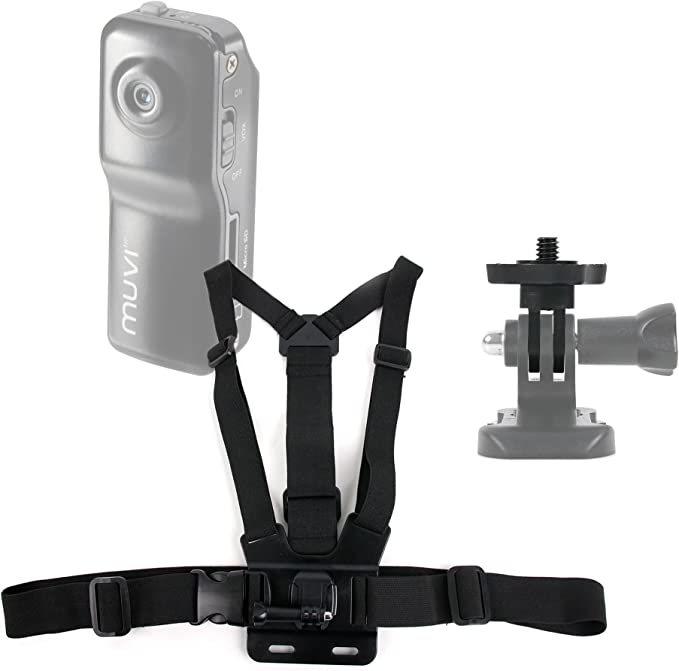 VCC-005-MUVI-HDNPNG Mini Compatible with Veho MUVI HD DURAGADGET Quality Action Camera Helmet Mount VCC-004-ATOM-NPNG Super Micro /& VCC-005-MUVI-NPNG MUVI HD Mini