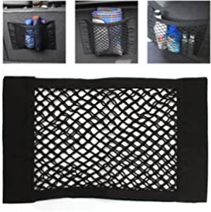 iTimo Car Bag Luggage Holder Universal Car Bag Net Seat Storage Mesh Net Organizer Pocket Sticker Trunk Strong Magic Tape