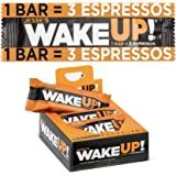 Jesse's WakeUP (1 Bar = 3 Espressos): Gluten Free Bars, 350mg of All Natural Caffeine to Boost Brain Focus & Clarity…