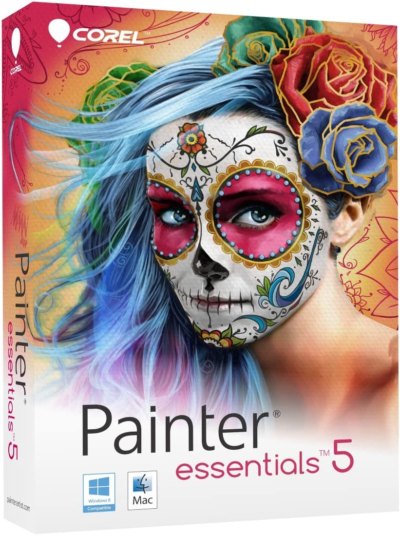 Corel Painter Essentials 5 Digital Art Suite for PC and Mac (Old Version) 71ZZ9Ov2BbAL
