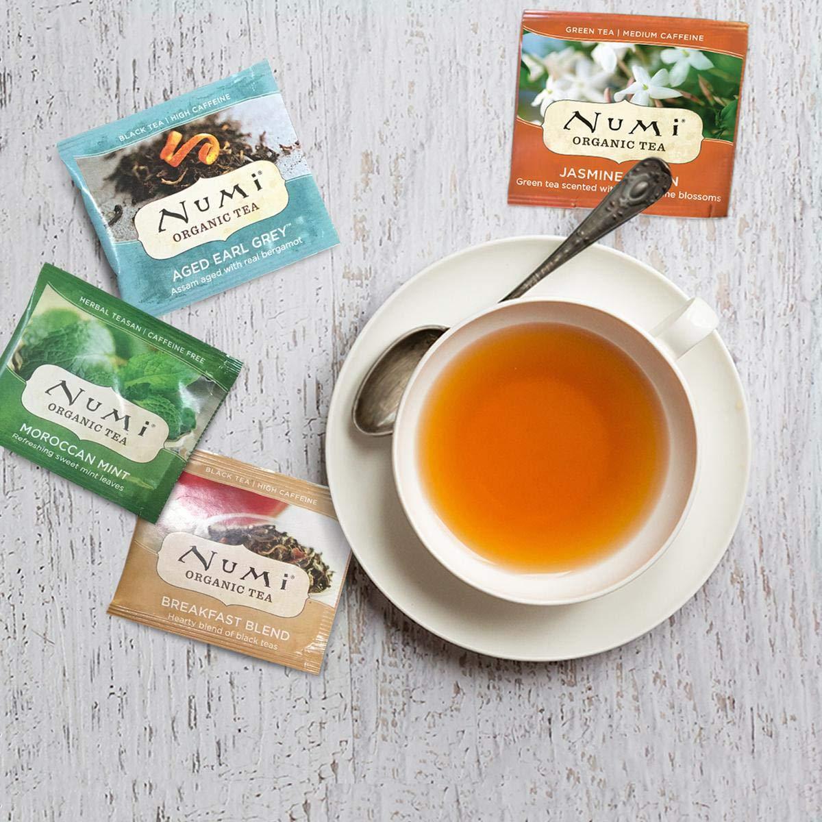 Premium Organic Black, Pu-erh, Green, Mate, Rooibos & Herbal Teas (Packaging May Vary)