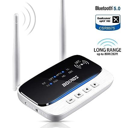 Amazon com: Bluetooth 5 0 Transmitter Receiver, Long Range