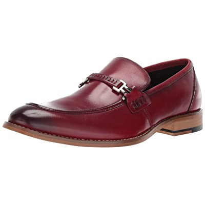 STACY ADAMS Men's Duval Moc-toe Slip-on Penny Loafer: Clothing