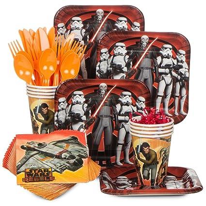 Amazon.com: Star Wars Rebels Vajilla Fiesta de cumpleaños ...
