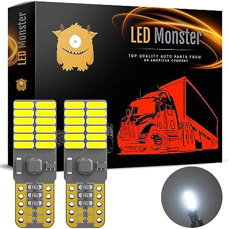 Bombillas LED Monster de 2 colores, 24 luces SMD, T10, 921, 194