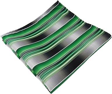 TigerTie - pañuelo en verde verde esmeralda plata antracita gris ...