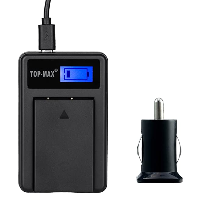 TOP-MAX USB de cargador de coche + cargador de batería para ...