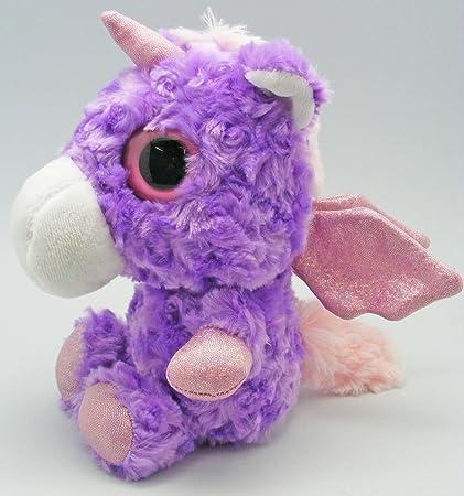 Peluche unicornio ojos grandes Zoo Factory – Calypso la unicornio